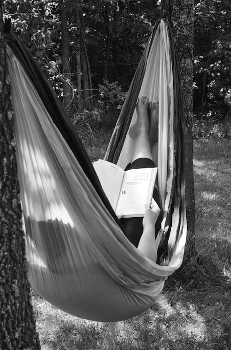 Chilling out in the hammock