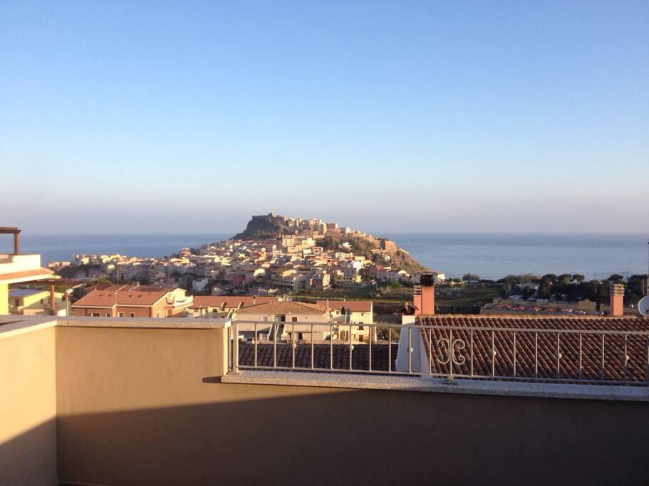 Vista su Castelsardo e lo stupendo mare sul golfo dell'Asinara