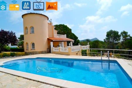 6Persoons spaanse villa+pr.pool,3 slk en panorama! - La Torre Vella - 別墅