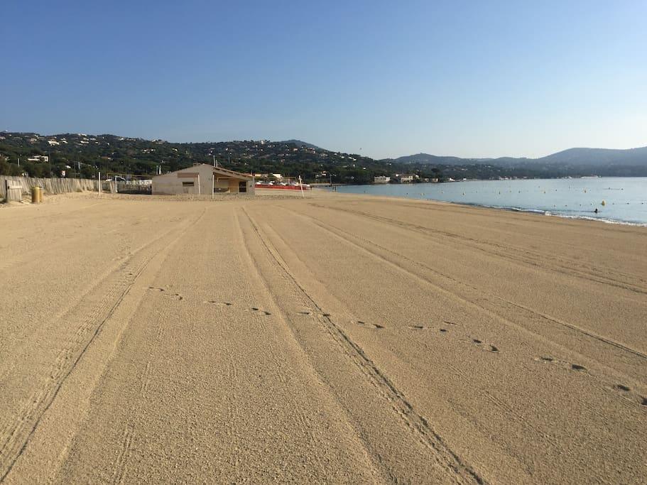 A 150 m Plage de sable fin La Nartelle