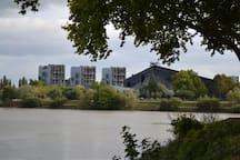 la résidence en bordure de Loire