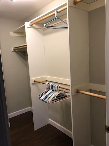 Huge bedroom closet