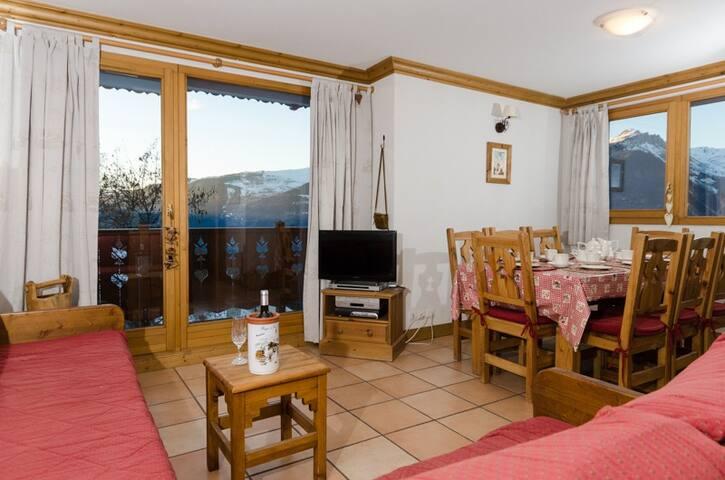 13 LB  Bedroom Apt facing the Piste - La Plagne Montalbert - Leilighet