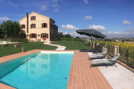 Luxury 4-bedroom villa with pool. - Recanati - Haus