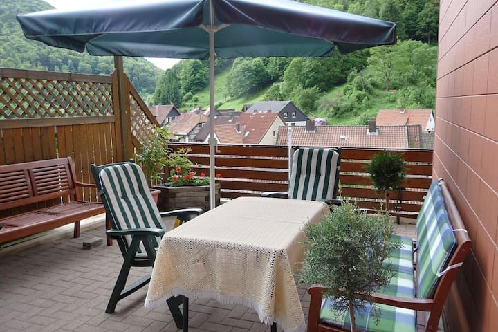 Cosy ground floor apartment with private terrace in the beautiful Harz region
