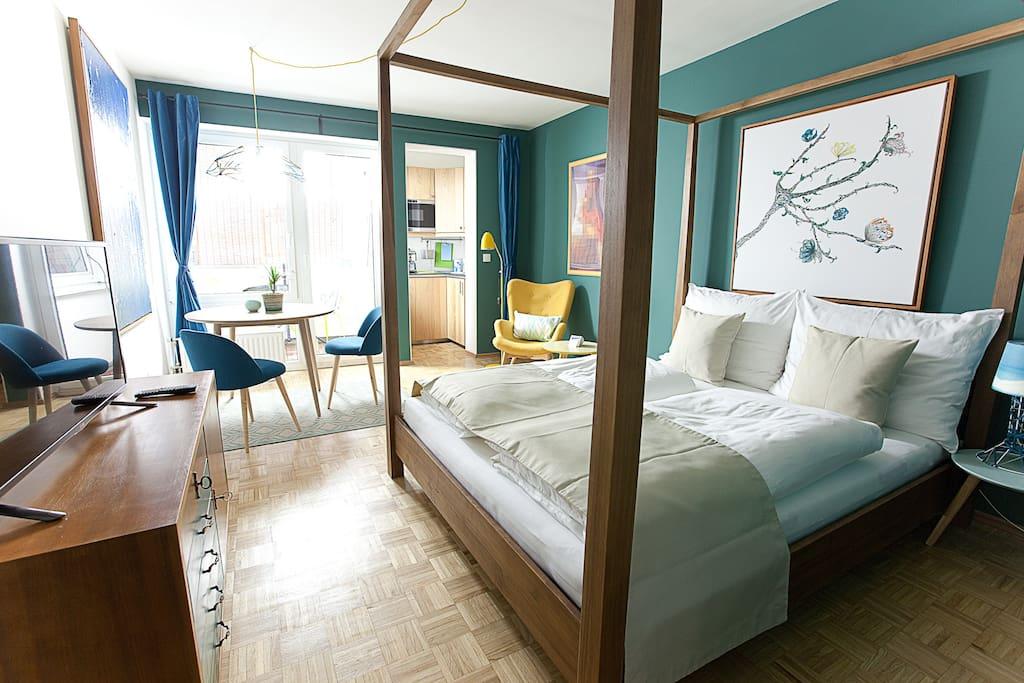 Design apartment karlsplatz blue apartments for rent in for Designer apartment vienna
