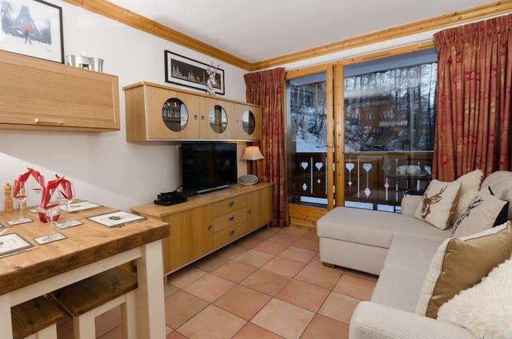 14A 2 Bedroom ski in/out apt - La Plagne Montalbert - Leilighet