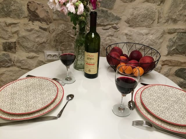 Dining experience with local red wine