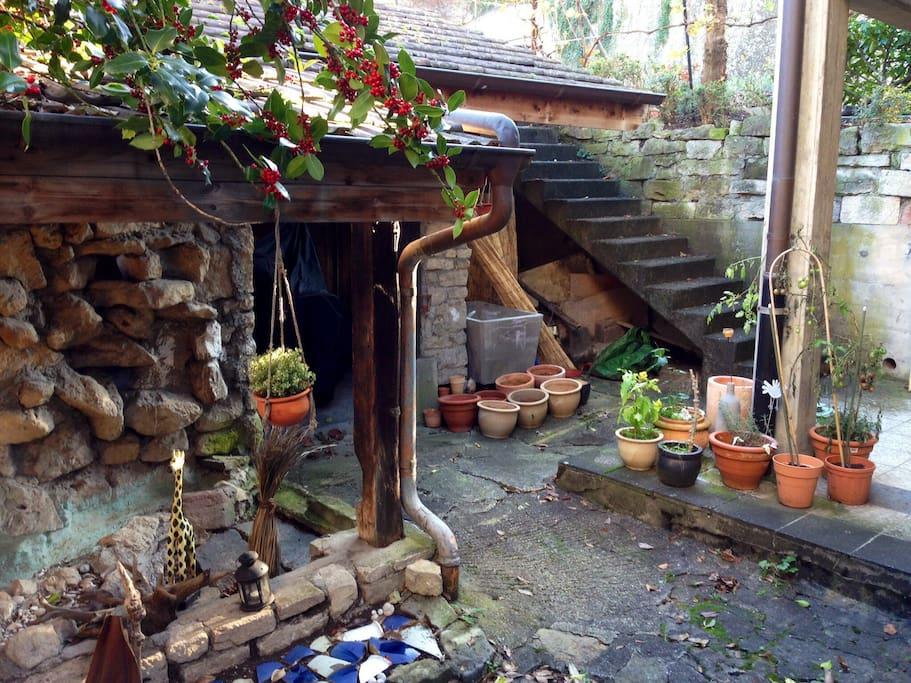 Gemütlicher, privater Eingangsbereich
