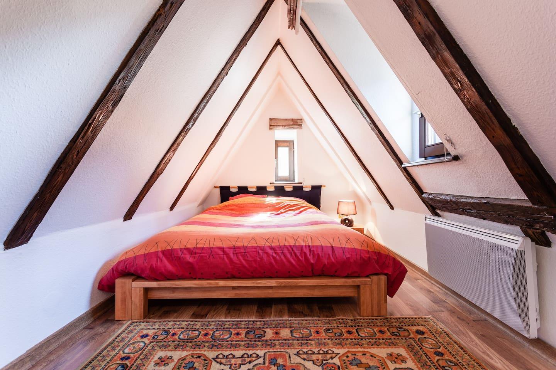 Chambre sous les toits au second niveau