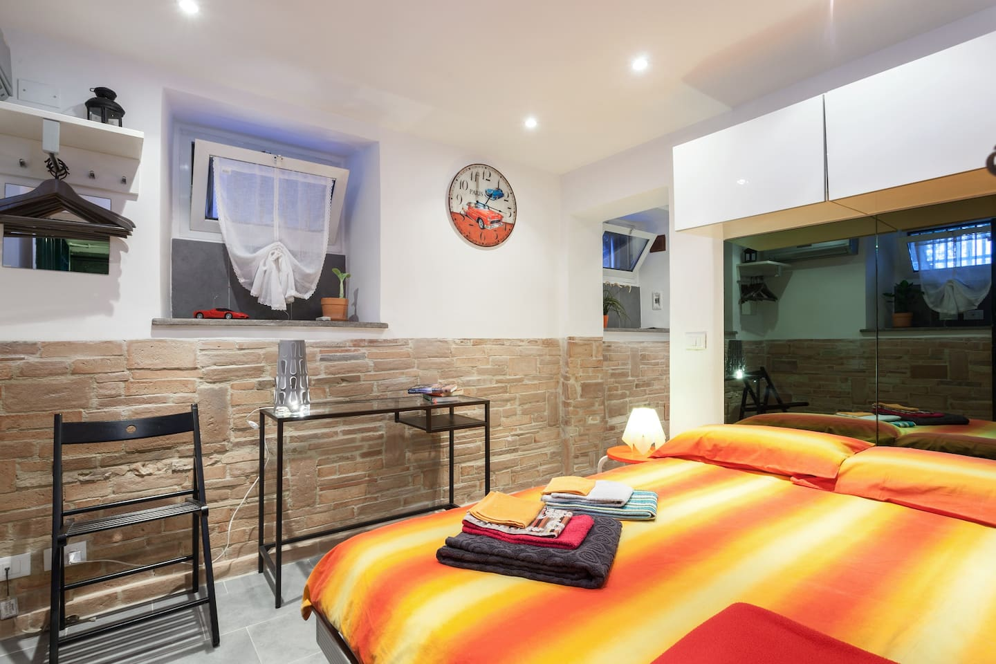 Home with large bed