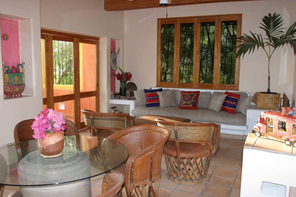 Quinta del Encanto- Casa Alegre Living/ Dining Room