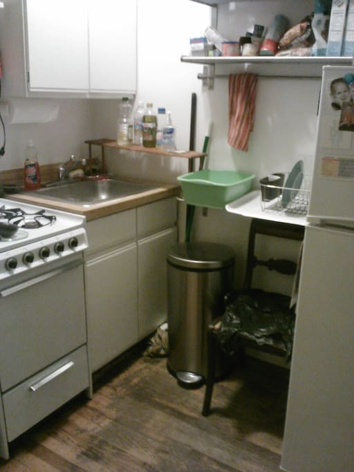 Gas stove and working oven