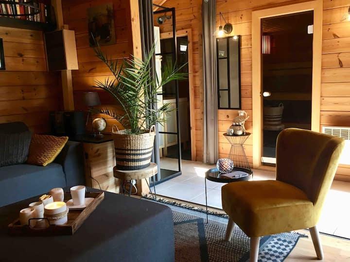 Rustig gelegen gezellige chalet met privé sauna!