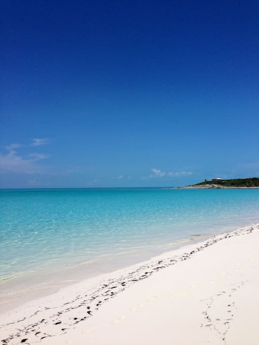 this is the beach's true colour, the best water you will find anywhere in the world!
