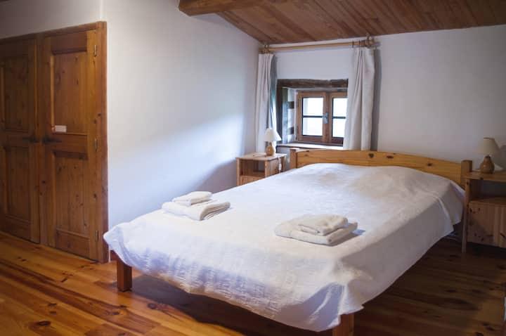 Chambre lit 160, salle d'eau privée,piscine