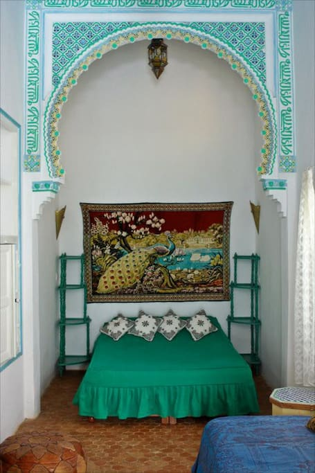 The Peacock room,wooden ceilings & traditional plaster carvings