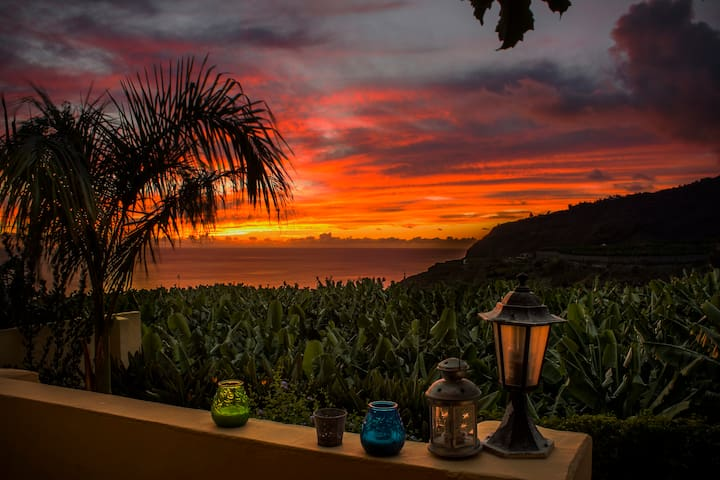 amazing sunsets from your veranda - Tazacorte - Lejlighed