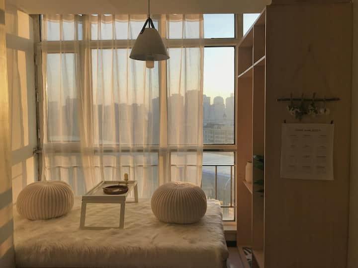 【安全之地】来日可期 松花江城市雪景 全天阳光 紧邻松花江 中央大街 小霸王游戏机