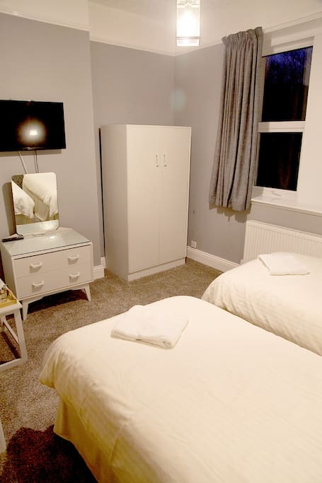 Beautiful twin room with full en-suite.  85 pounds/night room rate includes full English Breakfast.