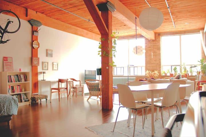 Cozy & Spacious Loft: Self Isolation Sanctuary