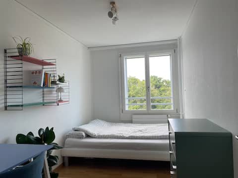 Lovely bedroom in a sunny flat with a big balcony