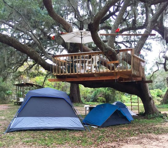 Texas Treehouse Swings Forest - Site A