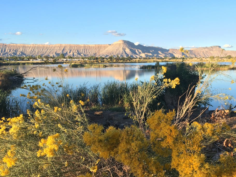 This fishing pond, only six miles from the ranch, is nestled next to the Colorado River and connected to trails for walking, cycling, and horseback riding.