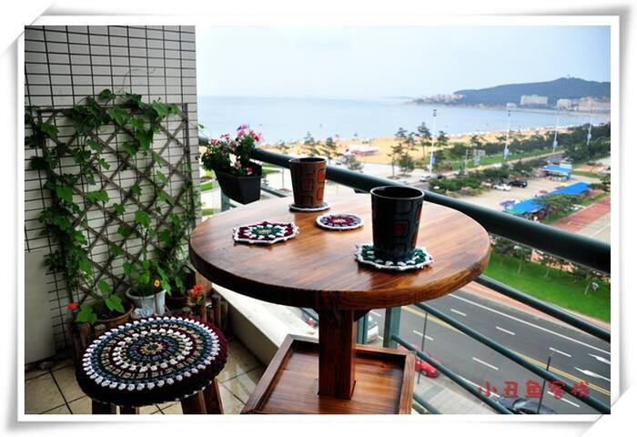 condo with a sea view balcony