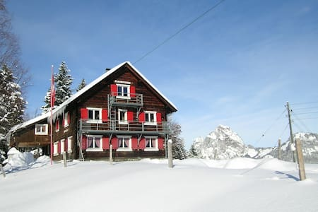 Group accommodation (20-50 p.) with panoramic view - Stoos - Haus