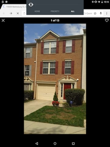 Germantown Townhouse - Best location - Germantown - Hus