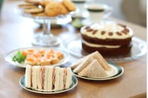 afternoon tea, complimentary if you stay with us for two nights or more.
