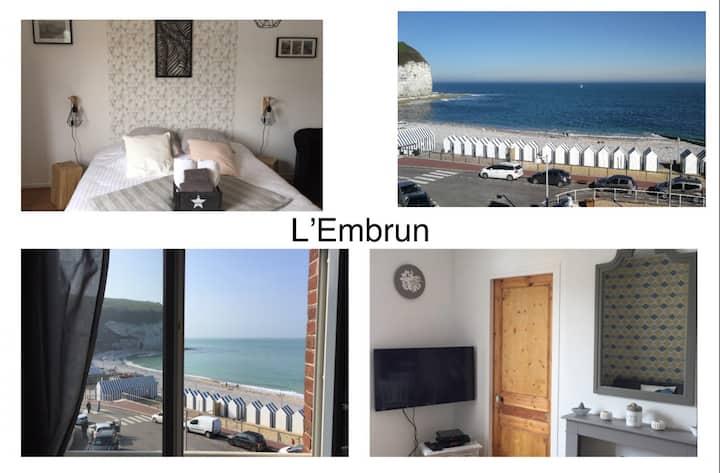Jolie escale «L'Embrun» pleine vue mer