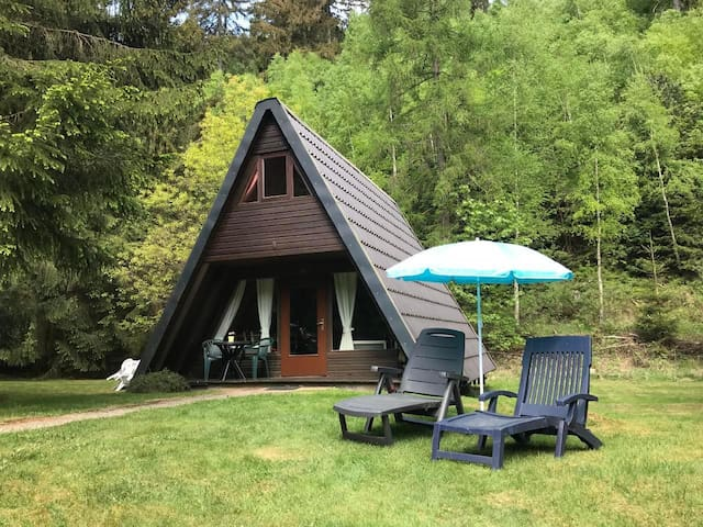 Beautiful holiday cottage is idyllically situated on the edge of a forrest