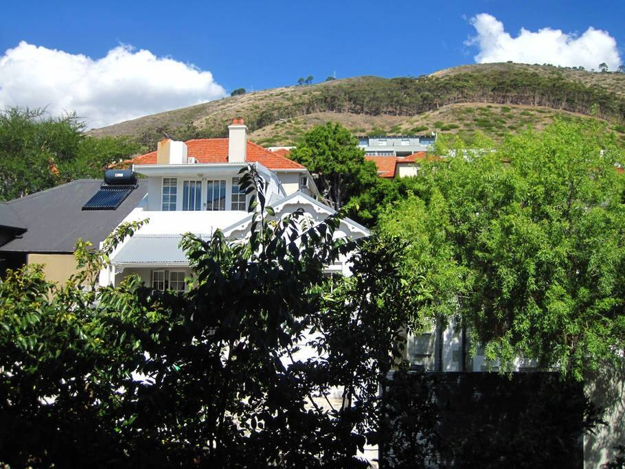 View of Signal Hill from the balcony.