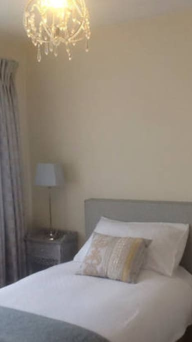 Bedroom 1 - recently refurbished, single room, excellent quality linen and very comfortable bed