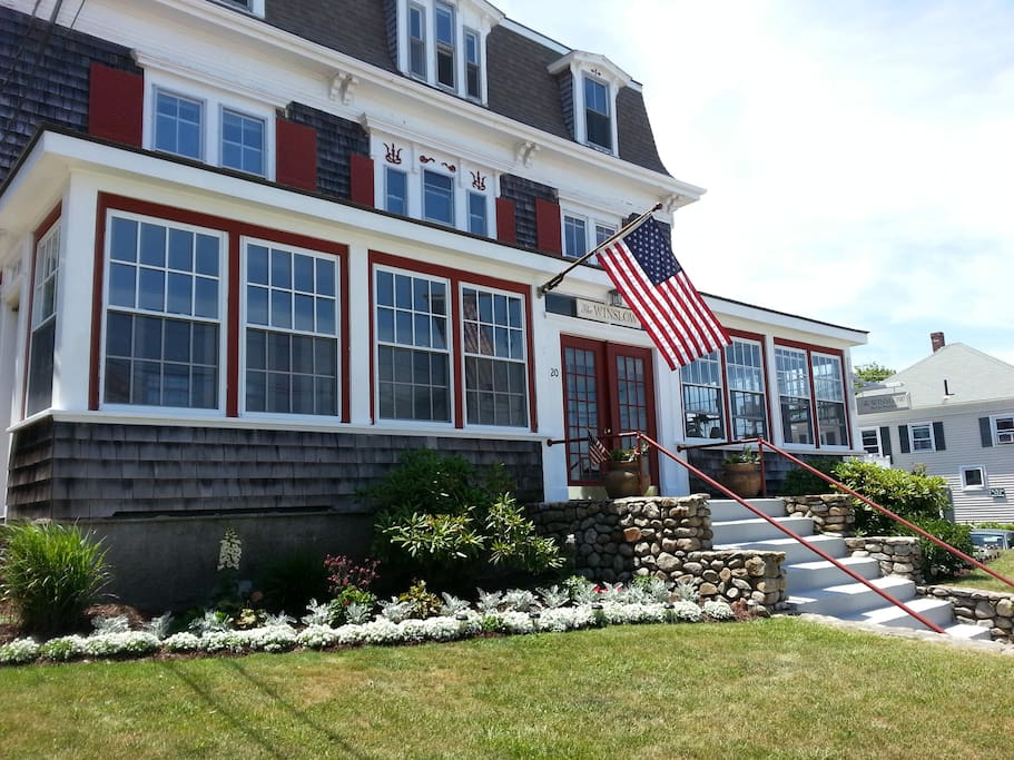 Your room is on the second floor with spectacular views of Plymouth Harbor and Cape Cod Sound