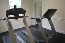 Full exercise facility with weights, treadmills, stair master & elliptical on-site