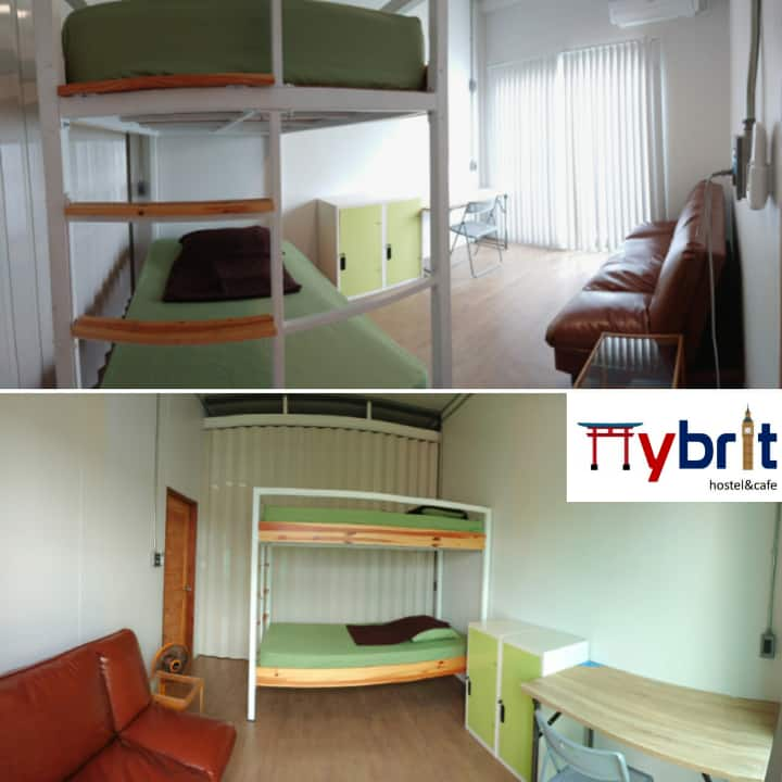 Hybrit hostel&cafe - Semi private 2-beds & sofabed