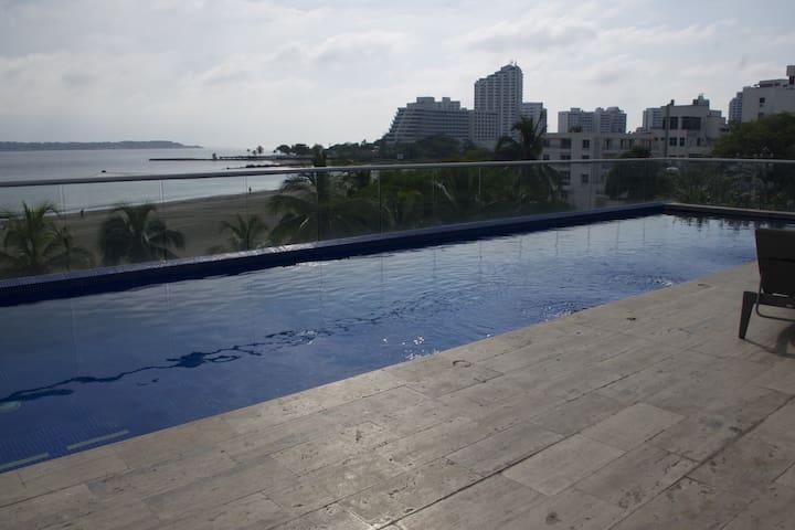 Spectacular ocean front duplex - Cartagena - Appartement
