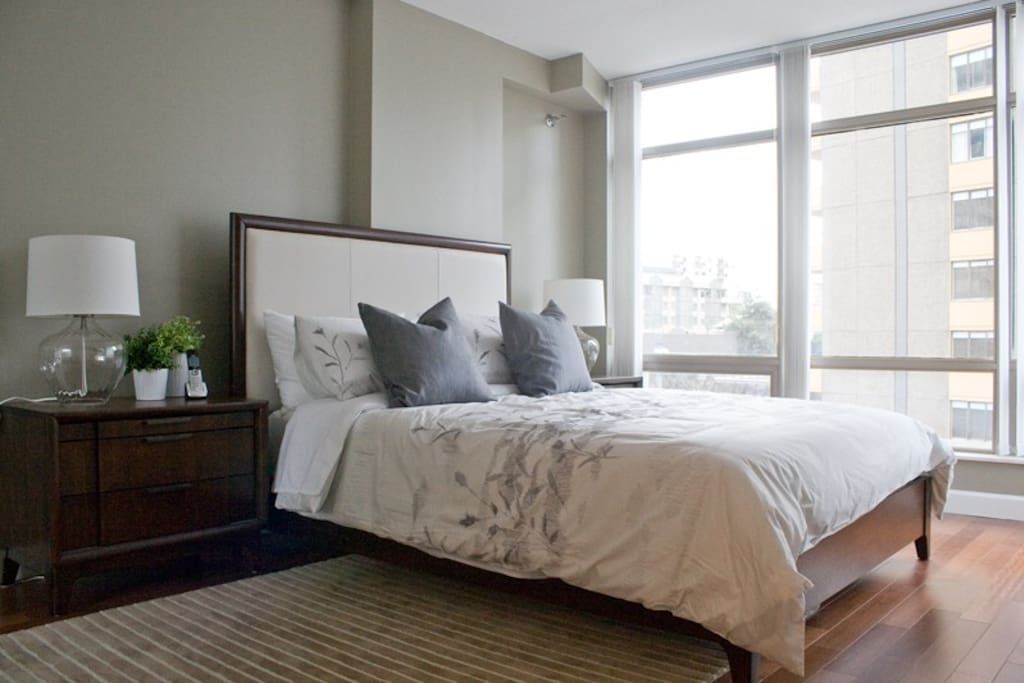 100% cotton duvets, changed after every guest.