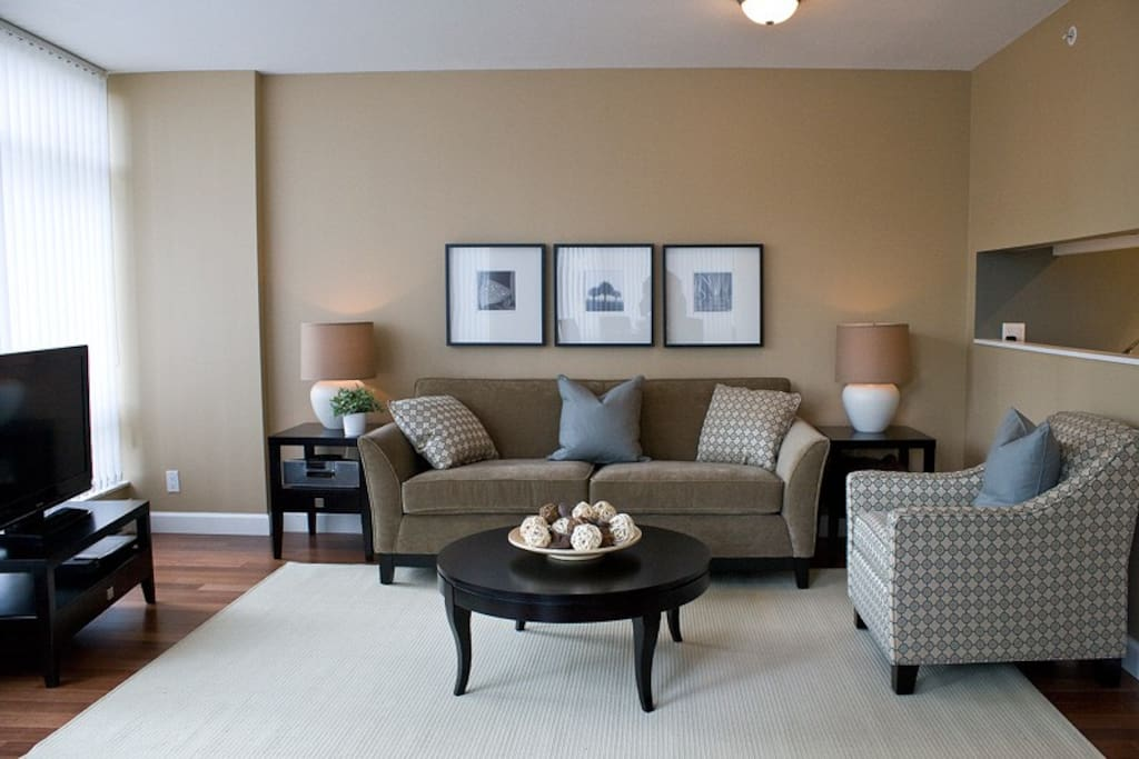 Comfortable living space with modern decor.