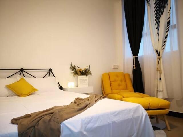 【方块公寓】上下九步行街时尚品质大床房101
