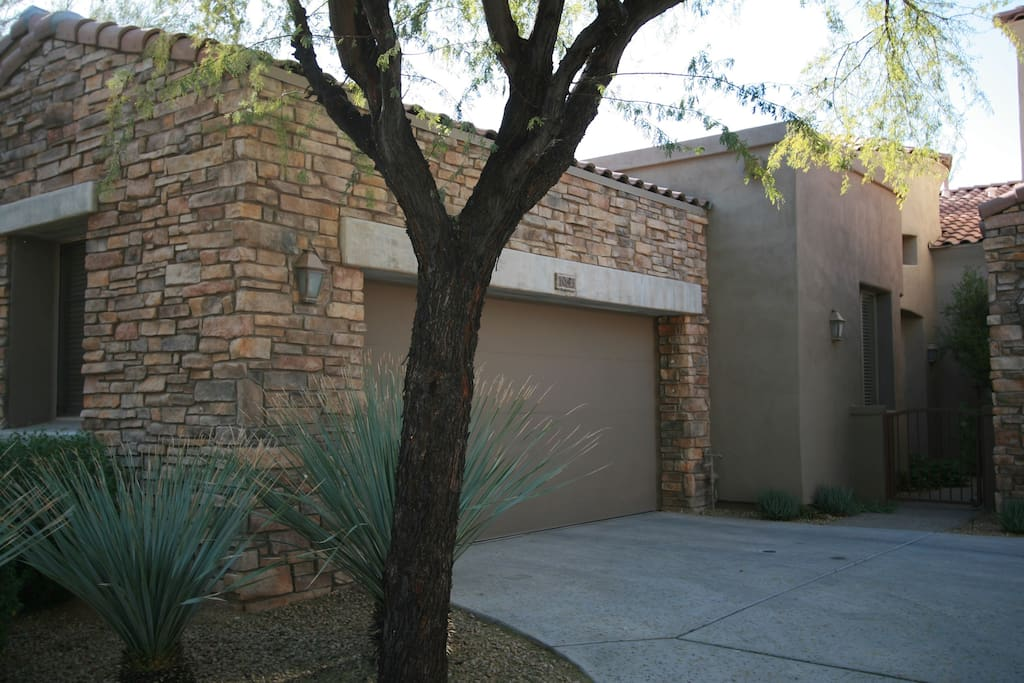 You've arrived! Our single-story townhome has a convenient attached 2 car garage.