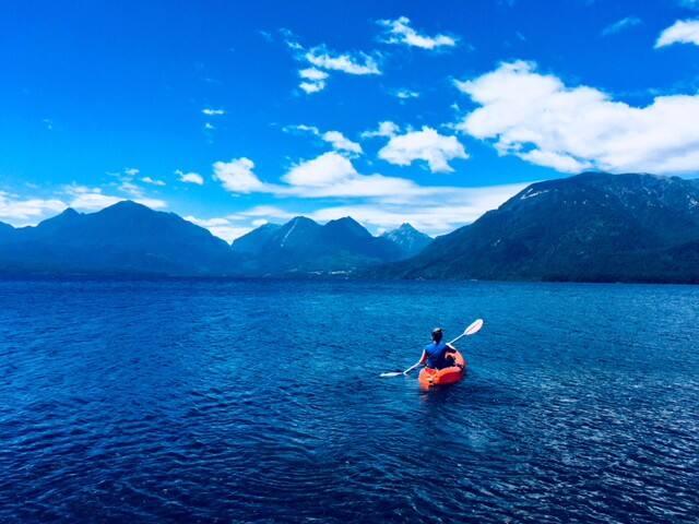 Cabaña la Sirena a la orilla del lago