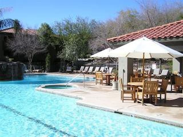 One of the Heated Pools with Hot Tub