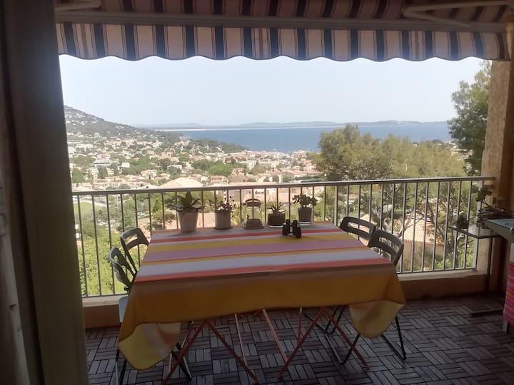 Bel appartement de 60 m2 avec terrasse vue mer