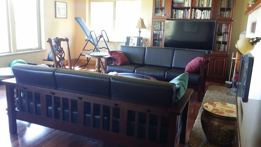 """living room w/ 55"""" hdtv"""