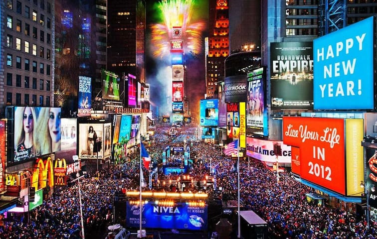 2020 New Years' Eve- Stay near Times Sq Ball Drop