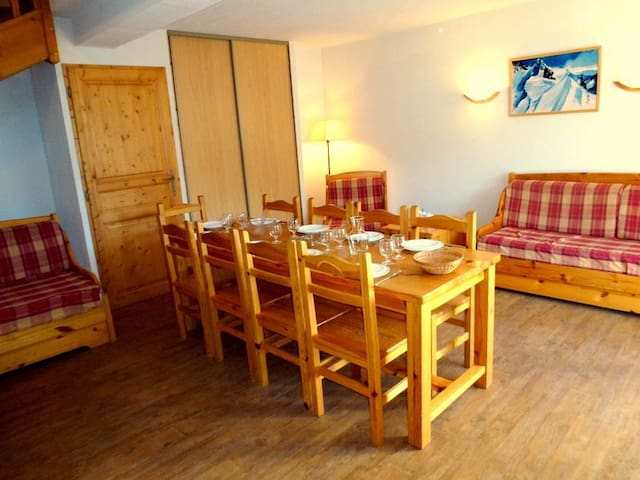 Enjoy your meals or share laughs at the large dining table.